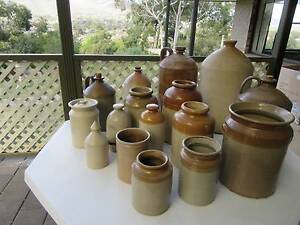 ANTIQUE STONEWARE POTS AND JARS Highbury Tea Tree Gully Area Preview
