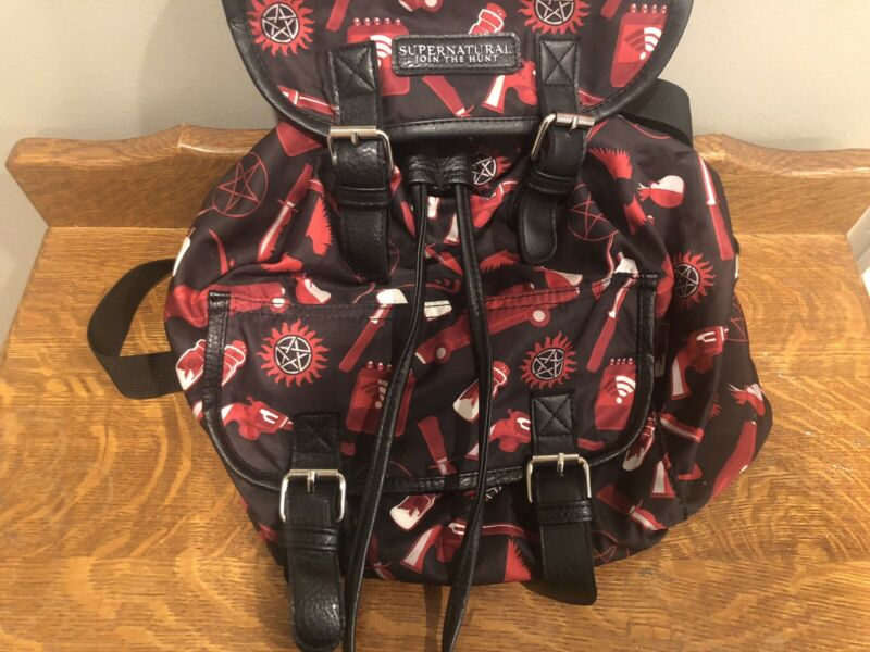Supernatural Join the Hunt Backpack Used Hot Topic Spooky