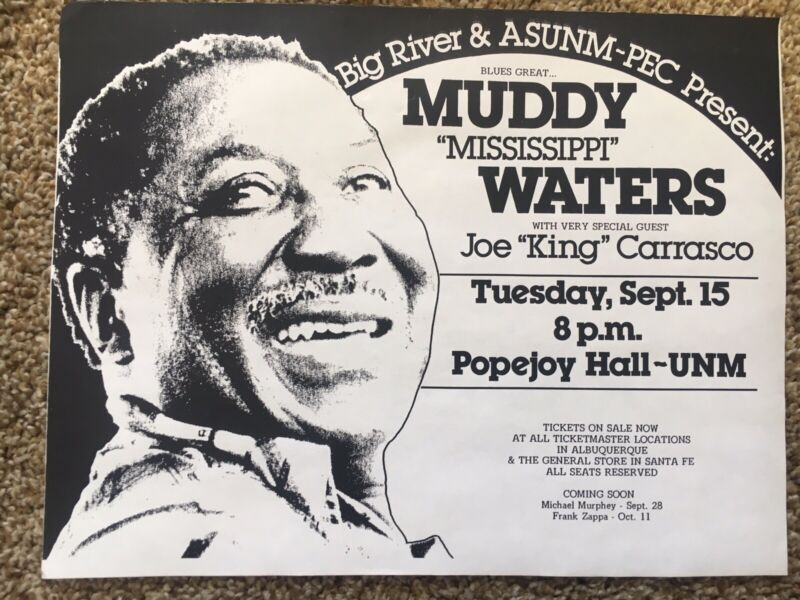 MUDDY WATERS CONCERT FLYER