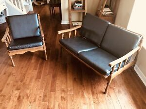 All wood side tables, chair and love seat & rocking chair