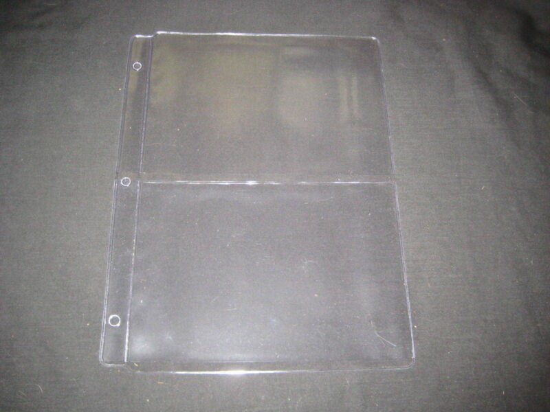 20 Plastic Pages, 2 slot for large Patches