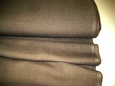 "MEDIUM BROWN WOOL BLEND  SUITING FABRIC 58"" WIDE BY THE YARD"