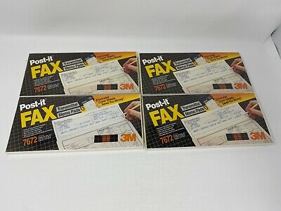 4x Vintage Post-it 3m Transmittal Fax Memo Note Pads 100 Sheets 400 Total