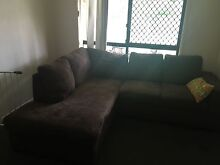 Brown lounge with chaise Capalaba Brisbane South East Preview