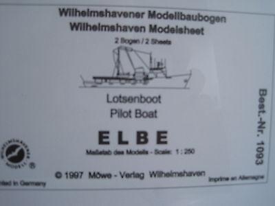Elbe Lotsenboot Schiff Wilhelmshavener Modellbaubogen Bastelbogen Kartonmodel