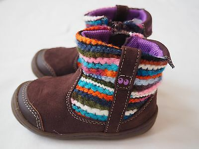 NEW STRIDE RITE Suprize ADORA Toddler Girl Boots Brown Multi Color Tweed Size 2