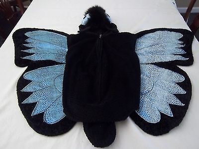 Butterfly FLY INSECT WINGS PLUSH Halloween Costume Bodysuit Size L 6/7 ](Fly Wings Costume)