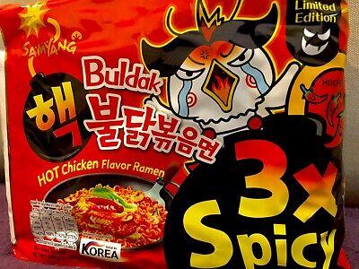 5 X Samyang Nuclear Hot Spicy Ramen Noodles  Korean Buldak 3x Spicy LIMITED