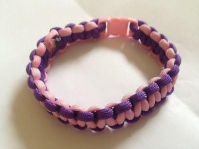 Paracord Bracelet Pink & Purple (B0104)