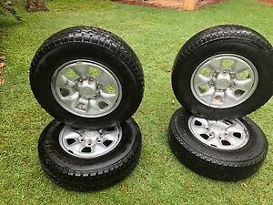 "Toyota Hilux 16"" steel rims with tyres Alexandra Hills Redland Area Preview"