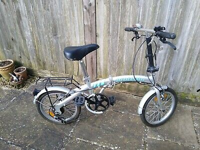 Used Proteam folding bike - 6 speed gears - Good condition - Colour silver