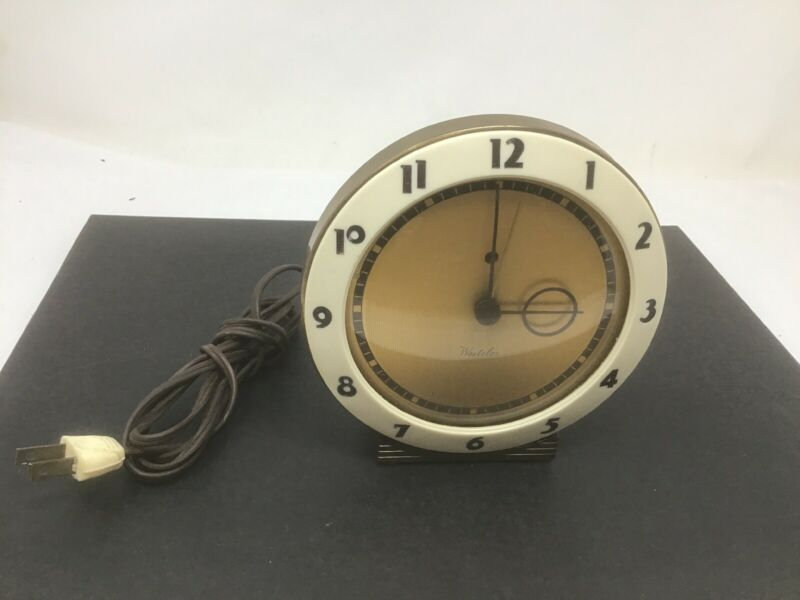 Westclox S5-G Alarm Clock USA Mid Century Modern Décor Tested Works Free Ship