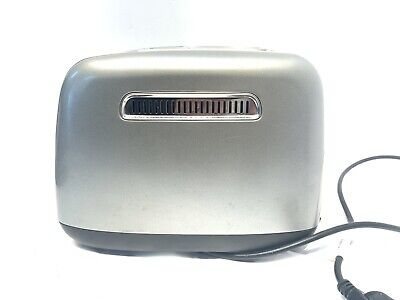 Kitchen Aid 2 Slice Toaster Stainless Steel for Bread, Mo. KMT223CU, Tested