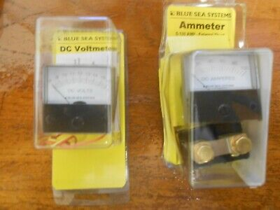 Blue Sea Dc Amp Volt Meter 0-100a 8-16v