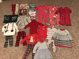 Girls Size 2 Christmas clothes/books