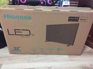 """Brand new 32"""" Hisense tv"""