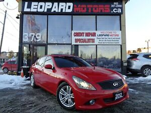 2012 Infiniti G37x Luxury, Awd, Leather, Camera*No Accident*