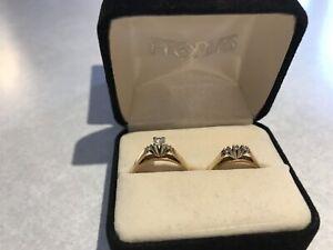 Ladies engagement ring set