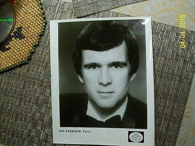 1#   Jon Garrison, Tenor  8x10 Publicity Promo Photo Vintage
