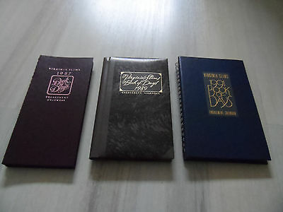 3 Virginia Slims Book of Days Engagement Calendars - Years of 1987 1989 1991