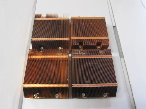 Qty 4: Supermicro SNK-P0017 1U Low Profile Copper Heatsinks for LGA771 CPUs