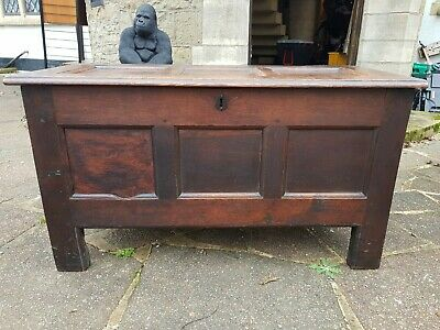 Early 19th Century Oak Blanket Box Good Size