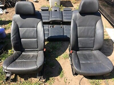 BMW 5 series E60 black leather seats electric