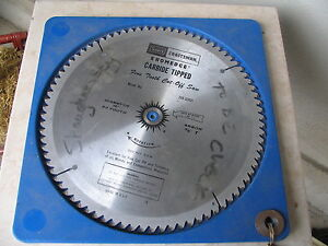 80 tooth CARBIDE TIIPPED SAW BLADE 12 IN DIA.