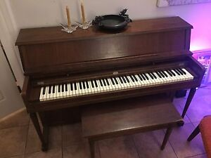 Apartment size piano, recently professionally tuned.