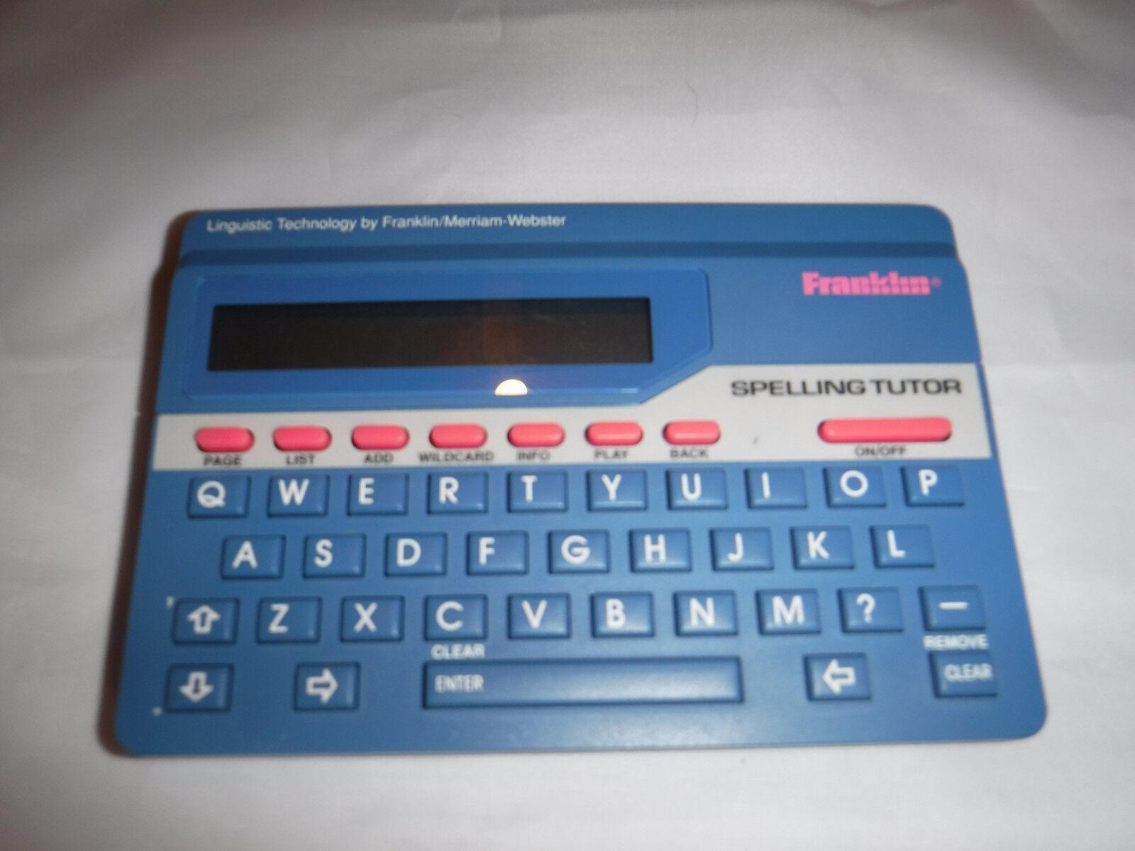 Franklin Spelling Tutor Spellblaster ll Model SA-50