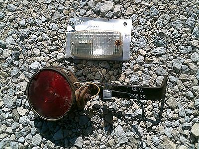 Ford Ih Jd Ac Tractor Rear Flasher W Mount Bracket White Light 12v Both Work