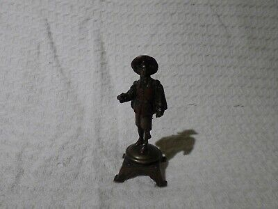 Antique Bronzed Figurine Statue of a Cavalier