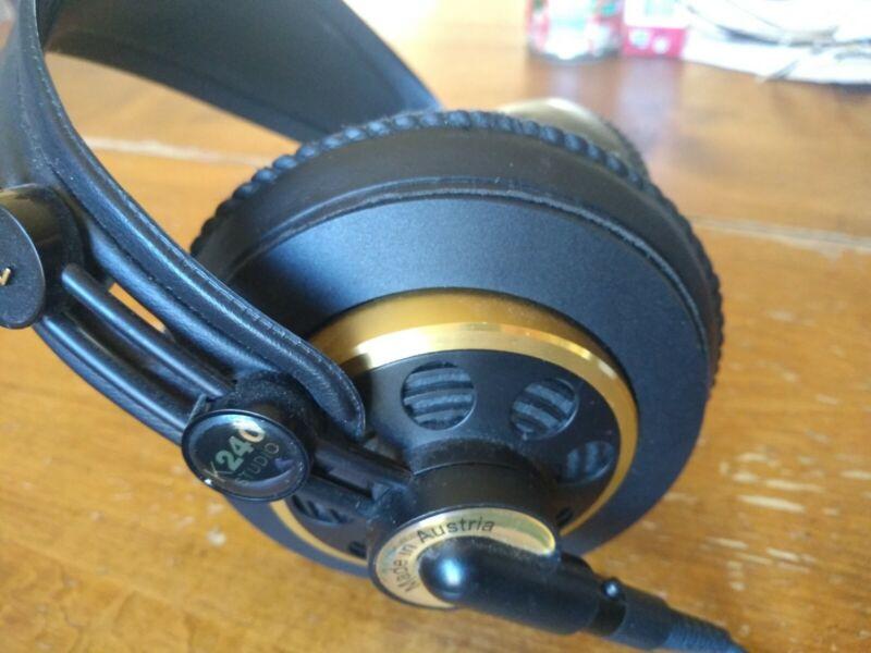 RARE AKG K240 Headphones 55 Ohms Made in AUSTRIA non-china k 240 studio monitor