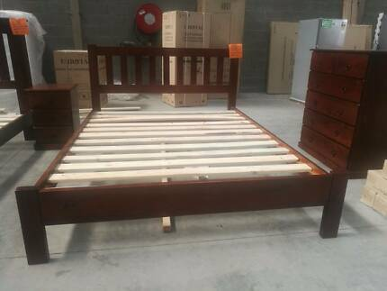 Brand New NZ Pine Concise Timber Bed Frame in Queen and Double