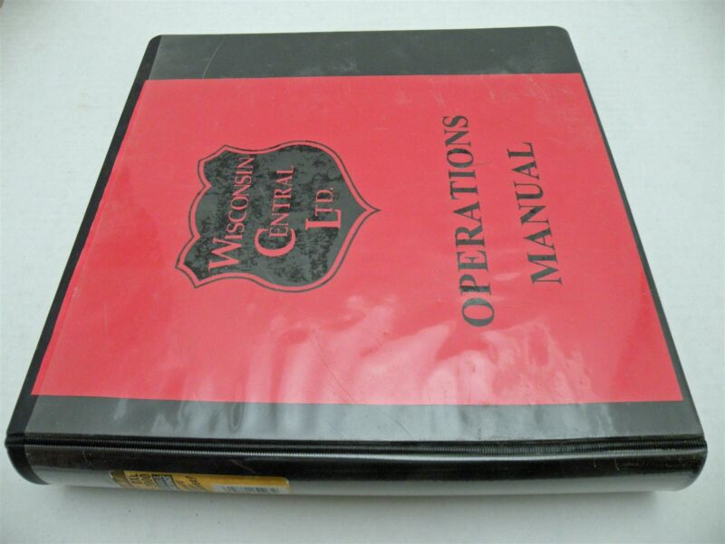 Wisconsin Central Ltd. Binder With Safety, Air Brake, & Code Of Operating Rules