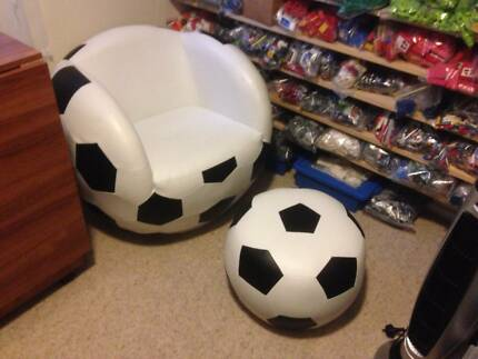 Soccer Ball Chair With Foot Stool Adult Size