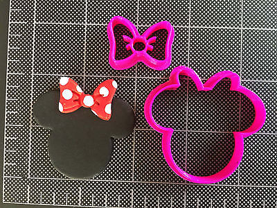 Minnie Mouse BOW Cookie Cutter / Fondant Cutter / Cupcake Topper / Minnie BOW  - Minnie Bow Cookie Cutter