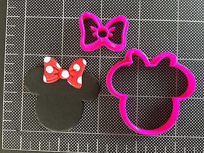 Minnie Mouse BOW Cookie Cutter / Fondant Cutter / Cupcake Topper / Minnie BOW ](Minnie Mouse Bow Cookie Cutter)