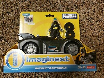 Fisher-Price Imaginext DC Super Friends Batman and Batmobile NEW