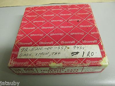 Starrett 666 Thickness Gage Feeler Stock 25 Feet .008 Vintage W Box