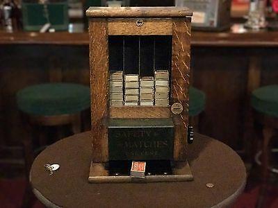 "1915 Match Box Vending Machine Albert Pick & Co. 1 Cent  ""WATCH VIDEO"""