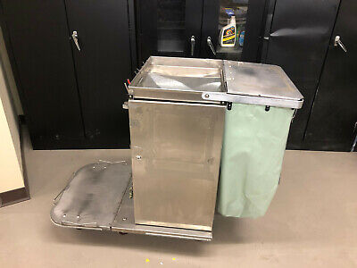 Royce Rolls F30 Stainless Steel Janitorial Cart Wfolding Base Nice