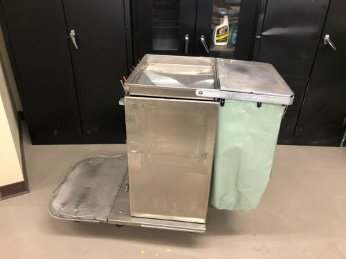 Royce Rolls F30 stainless steel janitorial cart w/folding base nice
