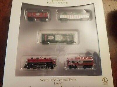 Hallmark Keepsake North Pole Central Train Mini Set Lionel Christmas Ornament