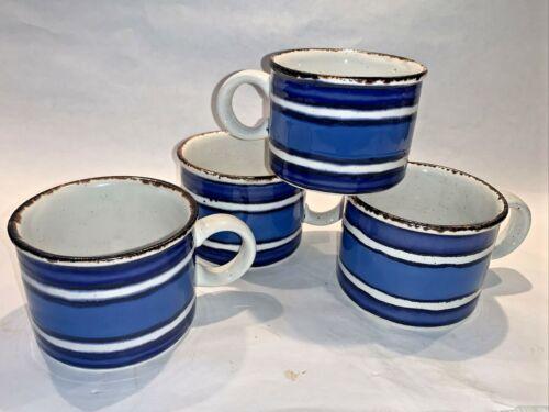(4) vintage Midwinter Stonehenge MOON blue Cups England