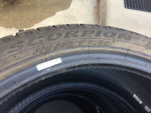 "4 PIRELLI Scorpion winter P255/40r21"" tires"