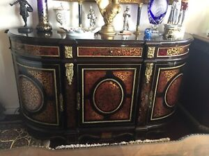 Antique French Boulle buffet sideboard