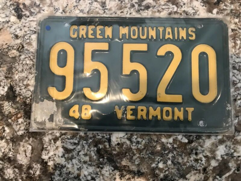 1948 Vermont License Plate 95 520