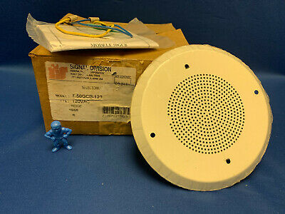 Federal Signal T-50gcb-120 Selectone Speaker Amplifier Round Ceiling Mount Beige