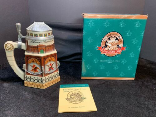 1999 - Anheuser Busch - Collectors Club - Clydesdale Stable Stein - CB11